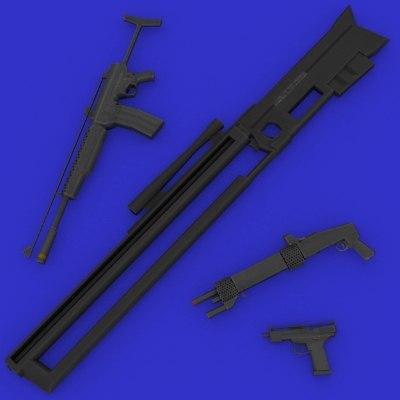 cyberpunk assault shotgun 3d model