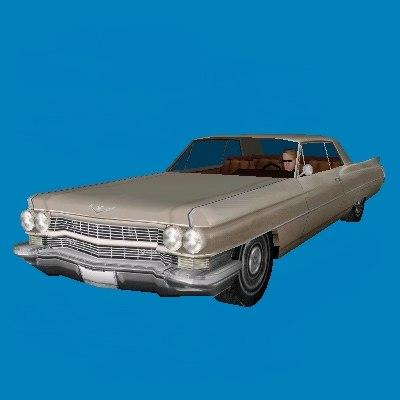 cadillac ville car 3d model