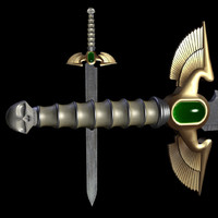 3d model fantasy sword