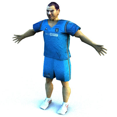 human male player 3d model