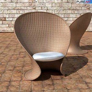 3d armchair fl