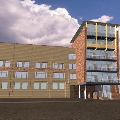 3dsmax house facade building