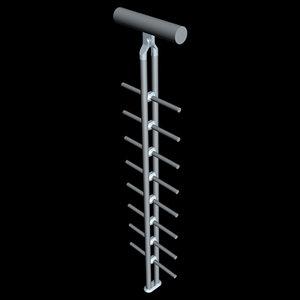 3d model railing handrail