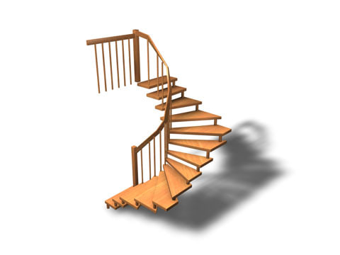stairs 3d c4d