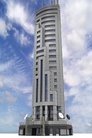 3d skyscraper sky scraper model