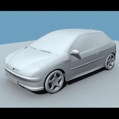 peugeot 206 3d model