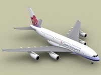 airbus a380-800 china airlines 3d model