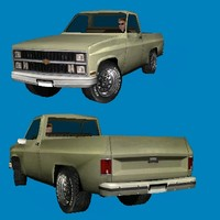 3d chevrolet scottsdale pickup truck model