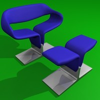 ribbon chair 3d model
