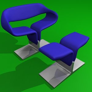 ribbon chair 3d model