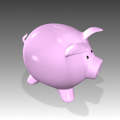 bank pig piggy 3d model
