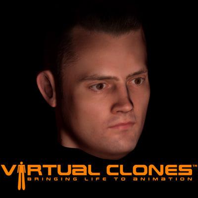 3d model male man head