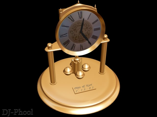 3ds max clock time beautiful