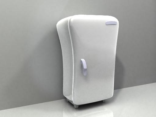 3d cartoon fridge model