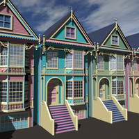 3ds max victorian houses