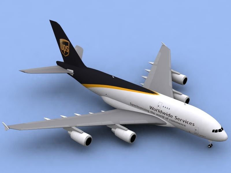 airbus a380-800 f ups 3ds