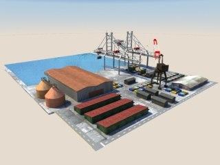 3d port harbour model