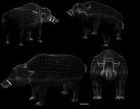 3d boar model