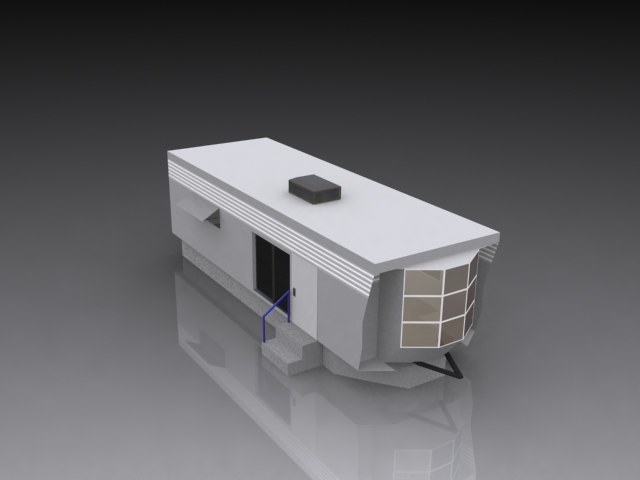 3ds max mobile home