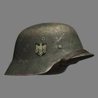 helmet wwii german 3d model