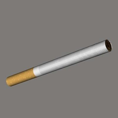 3d cigarette cigar model