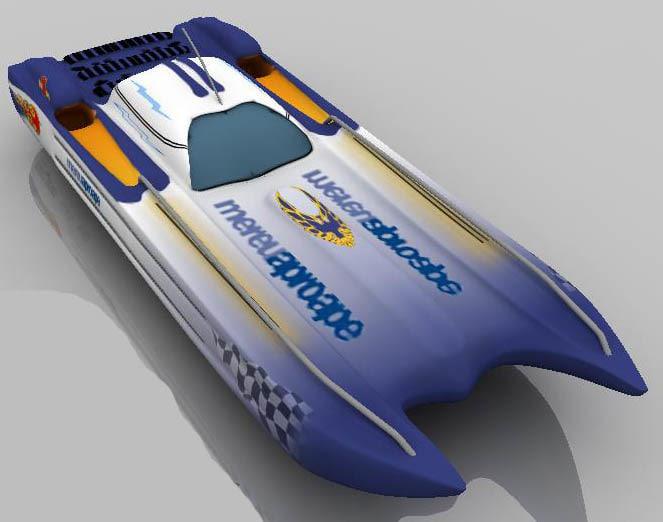 3dsmax speedboat speed boat