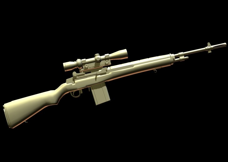 weapons rifle gun 3d model