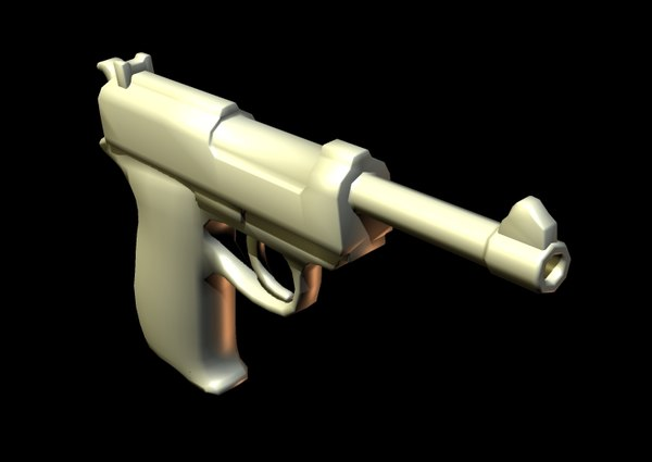 guns handguns 3d model