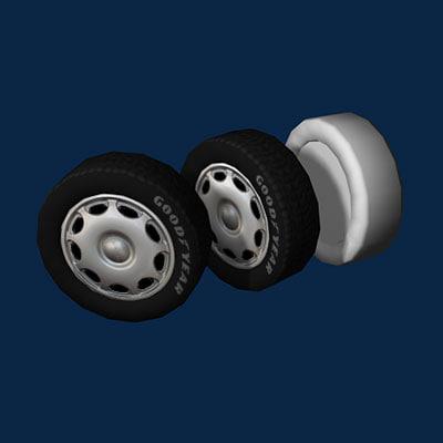 3d wheel tire rim model