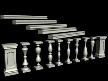 balcony balustrade 3d model