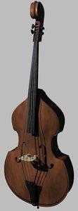 upright string bass 3d model
