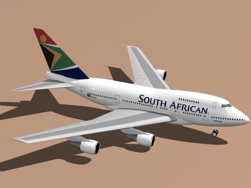 3d model b south african 747 sp