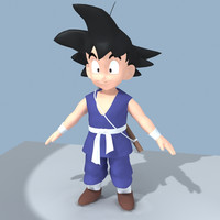 free songoku goku 3d model