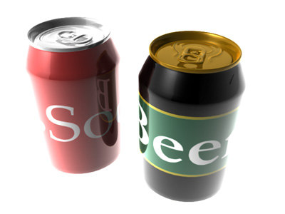 cans soda beer 3d model