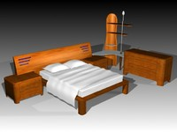 3d bed dione model