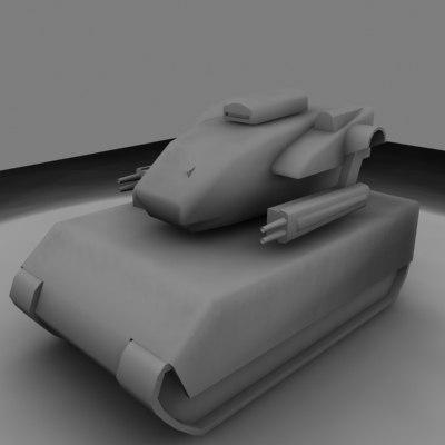 free tank robot 3d model