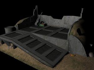 army trench 3d max