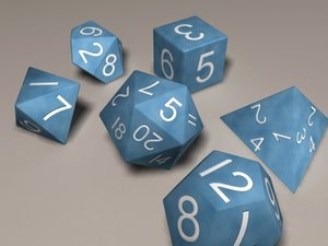 3d roleplaying dice role model