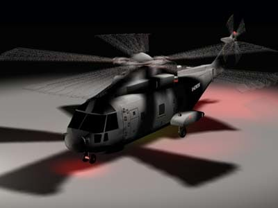 eh-101 merlin helicopter 3d model
