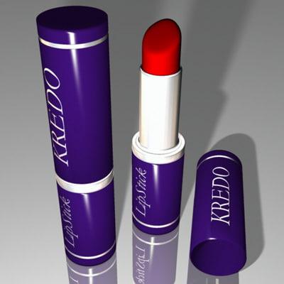 lipstick lipstic 3d max