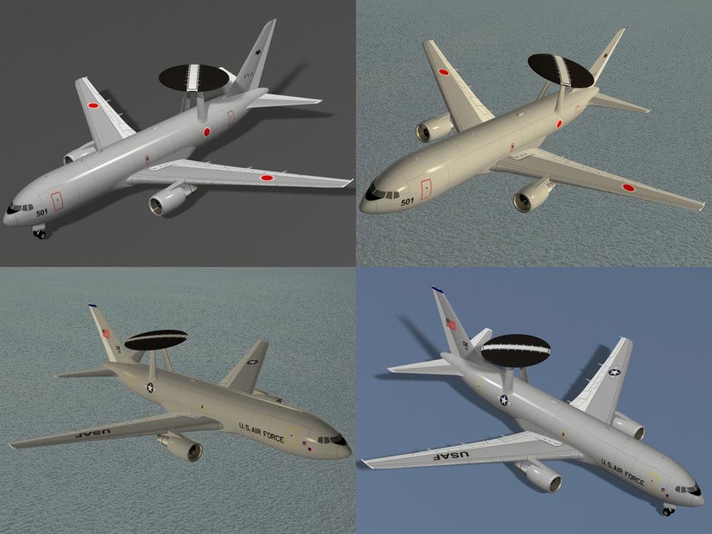 3d e-767 awacs usaf 767 model