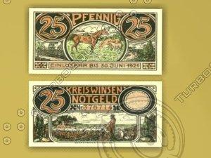 money germany 3d model