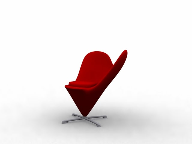 red heart chair 3ds