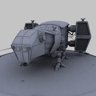 spacecraft spaceship fighter 3d model