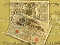 3d german mark note