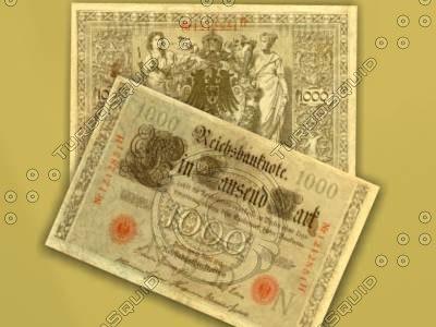 3d german mark note