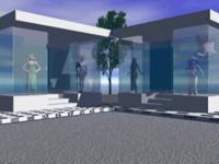 3d model fashion shop