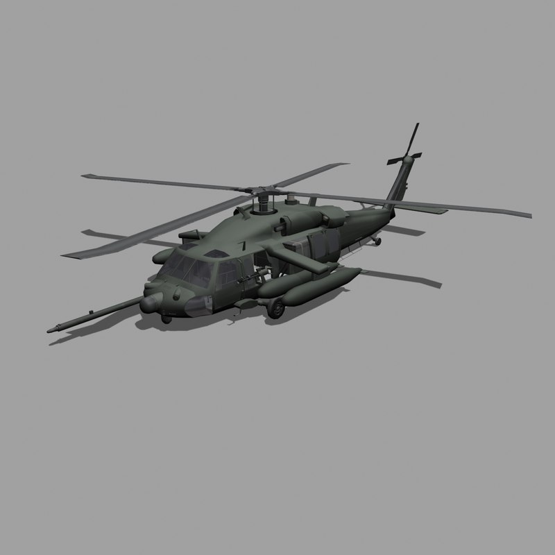 army blackhawks helicopter 3d model