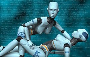 robot boned ik 3d model