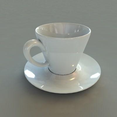 cup saucer 3d model